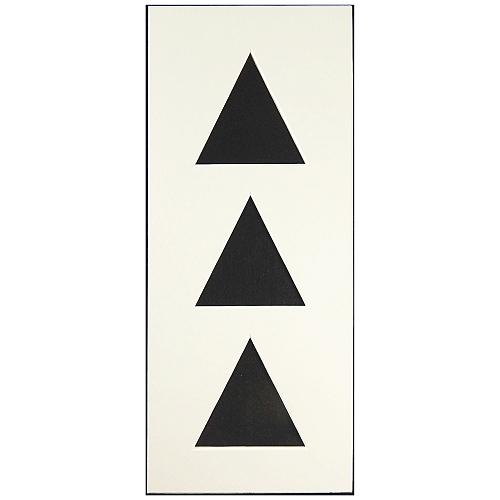 Passepartout 3 Ausschnitte dreieckig, Rückseite offen, weiß