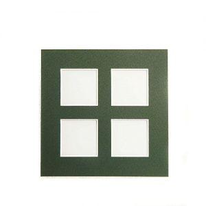 Passepartout 4 Ausschnitte, geschlossene Rückseite in grün