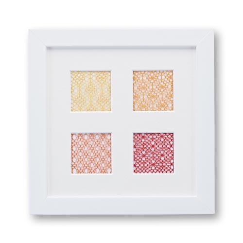 Passepartout mit 4 Ausschnitte, mit Spitze, eine schöne Möglichkeit um Spitze attraktiv zu zeigen, in der Klöppelwerkstatt, Häkeln, Klöppeln, Sticken, Fotos, Bild mit Spitze