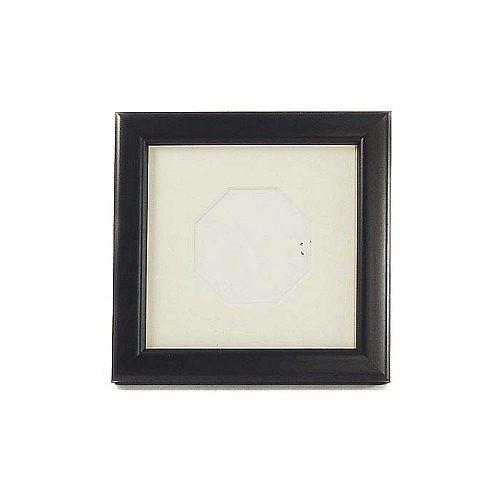 Passepartout achteckiger Ausschnitt, PP mit Rahmen in schwarz
