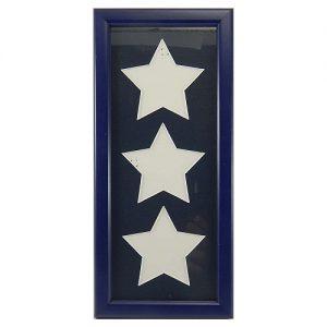 Passepartout inclusive Rahmen 3 Ausschnitte Sterne in nachtblau