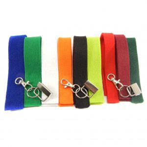Schluesselanhänger Set Filz 9 Farben in 3 Breiten