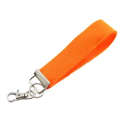 Schluesselanhänger Set Filz in orange 30 mm