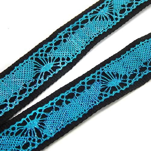 Schluesselband 20mm breit, zum Aufnähen von Spitze, geklöppelt, gehäkelt und andere Techniken, schwarz, detail