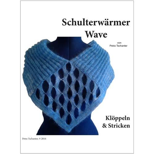 Schulterwärmer Wave - Petra Tschanter, in der Klöppelwerkstatt, Klöppelbrief, Klöppeln und Stricken