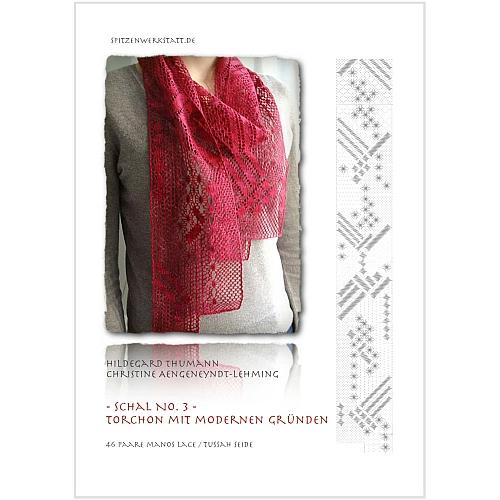 Torchonschal III für Manos Lace, von Hildegard Thumann entworfen zum klöppeln