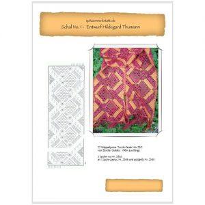 Torchonschal I für Manos Lace, von Hildegard Thumann entworfen zum klöppeln