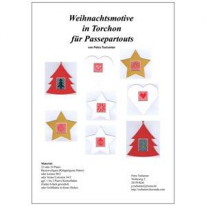 Weihachtsmotive in Torchon fuer PP, Klöppelbrief mit Anleitung