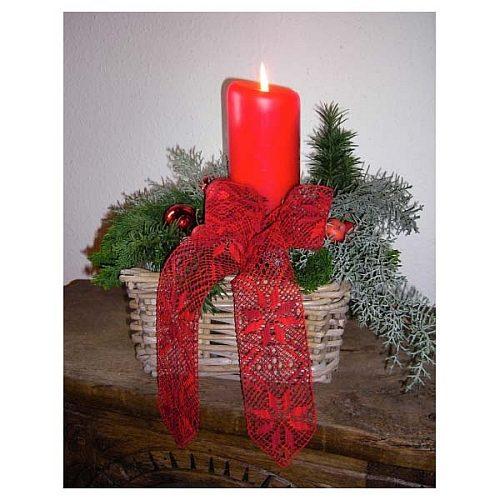Weihnachtsschleife ~ Thumann/Aengeneyndt-Lehming, in der Klöppelwerkstatt, Torchon, Weihnachten, klöppeln