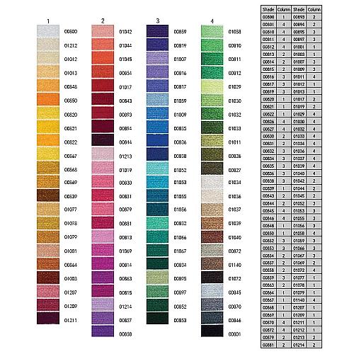 Anchor Marlitt 4-fädiges Glanzstickgarn in 90 hochglänzenden Farben lieferbar, zum Klöppeln, als Konturfaden, zum Sticken, Häkeln, in der Klöppelwerkstatt erhältlich.