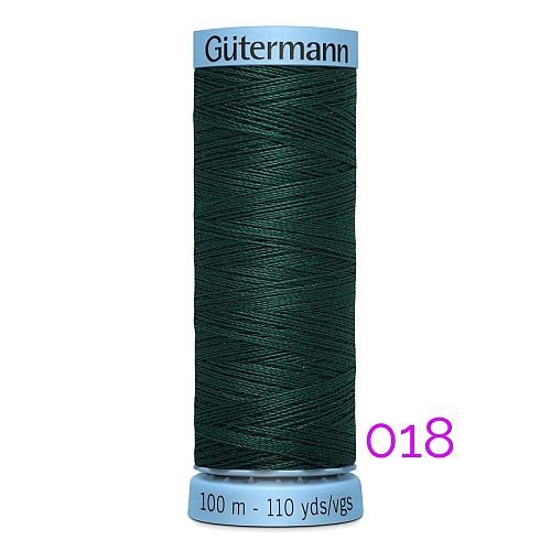 Gütermann Seide S303, Seidengarn auf der 100m Spule Farbe 018, in der Klöppelwerkstatt erhältlich und sehr gut zum klöppeln, häkeln, quilten, nähen, für Patchwork und Kumihimo geeignet.