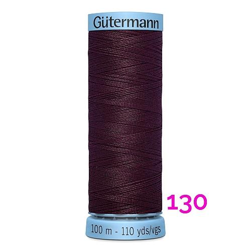 Gütermann Seide S303, Seidengarn auf der 100m Spule Farbe 130, in der Klöppelwerkstatt erhältlich und sehr gut zum klöppeln, häkeln, quilten, nähen, für Patchwork und Kumihimo geeignet.