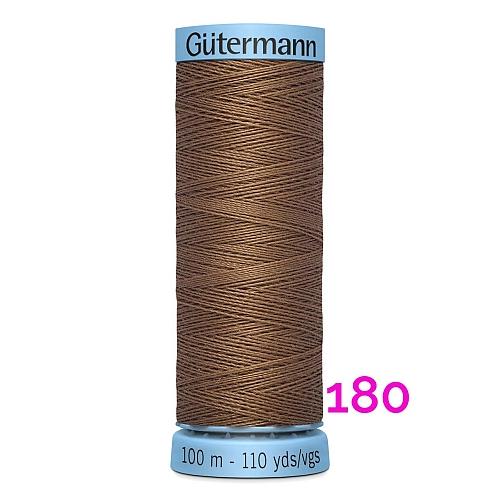 Gütermann Seide S303, Seidengarn auf der 100m Spule Farbe 180, in der Klöppelwerkstatt erhältlich und sehr gut zum klöppeln, häkeln, quilten, nähen, für Patchwork und Kumihimo geeignet.