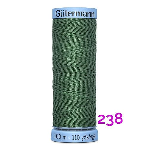 Gütermann Seide S303, Seidengarn auf der 100m Spule Farbe 238, in der Klöppelwerkstatt erhältlich und sehr gut zum klöppeln, häkeln, quilten, nähen, für Patchwork und Kumihimo geeignet.
