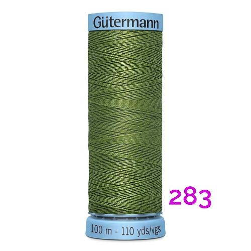 Gütermann Seide S303, Seidengarn auf der100m Spule Farbe 283, in der Klöppelwerkstatt erhältlich und sehr gut zum klöppeln, häkeln, quilten, nähen, für Patchwork und Kumihimo geeignet.