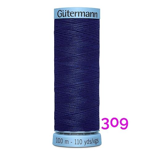 Gütermann Seide S303, Seidengarn auf der 100m Spule Farbe 309, in der Klöppelwerkstatt erhältlich und sehr gut zum klöppeln, häkeln, quilten, nähen, für Patchwork und Kumihimo geeignet.