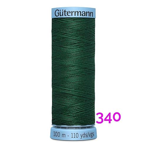 Gütermann Seide S303, Seidengarn auf der 100m Spule Farbe 340, in der Klöppelwerkstatt erhältlich und sehr gut zum klöppeln, häkeln, quilten, nähen, für Patchwork und Kumihimo geeignet.