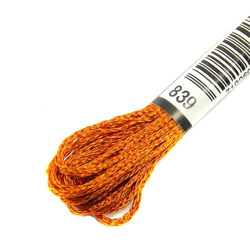 Anchor Marlitt 4-fädiges Glanzstickgarn in 90 hochglänzenden Farben lieferbar, zum Klöppeln, als Konturfaden, zum Sticken, Häkeln, in der Klöppelwerkstatt erhältlich. Farbe 839