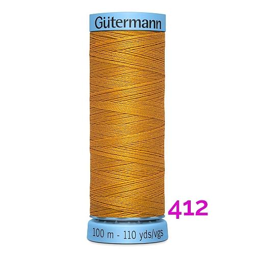 Gütermann Seide S303, Seidengarn auf der 100m Spule Farbe 412, in der Klöppelwerkstatt erhältlich und sehr gut zum klöppeln, häkeln, quilten, nähen, für Patchwork und Kumihimo geeignet.