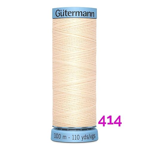 Gütermann Seide S303, Seidengarn auf der 100m Spule Farbe 414, in der Klöppelwerkstatt erhältlich und sehr gut zum klöppeln, häkeln, quilten, nähen, für Patchwork und Kumihimo geeignet.