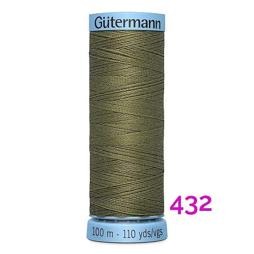 Gütermann Seide S303, Seidengarn auf der100m Spule Farbe 432, in der Klöppelwerkstatt erhältlich und sehr gut zum klöppeln, häkeln, quilten, nähen, für Patchwork und Kumihimo geeignet.