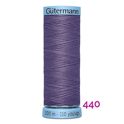 Gütermann Seide S303, Seidengarn auf der 100m Spule Farbe 440, in der Klöppelwerkstatt erhältlich und sehr gut zum klöppeln, häkeln, quilten, nähen, für Patchwork und Kumihimo geeignet.