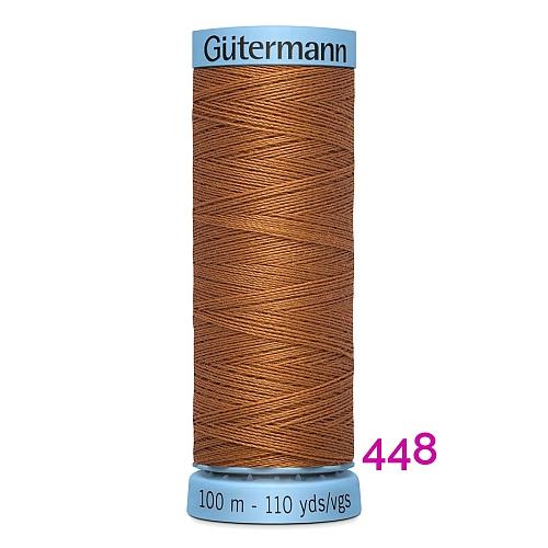 Gütermann Seide S303, Seidengarn auf der100m Spule Farbe 448, in der Klöppelwerkstatt erhältlich und sehr gut zum klöppeln, häkeln, quilten, nähen, für Patchwork und Kumihimo geeignet.