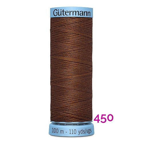 Gütermann Seide S303, Seidengarn auf der100m Spule Farbe 450, in der Klöppelwerkstatt erhältlich und sehr gut zum klöppeln, häkeln, quilten, nähen, für Patchwork und Kumihimo geeignet.