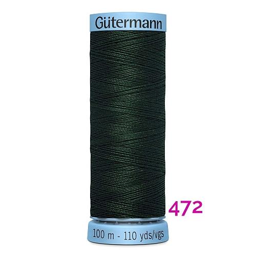 Gütermann Seide S303, Seidengarn auf der100m Spule Farbe 472, in der Klöppelwerkstatt erhältlich und sehr gut zum klöppeln, häkeln, quilten, nähen, für Patchwork und Kumihimo geeignet.