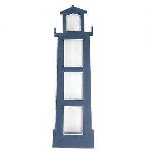 Deko-Passepartout Leuchtturm blau Rückseite offen