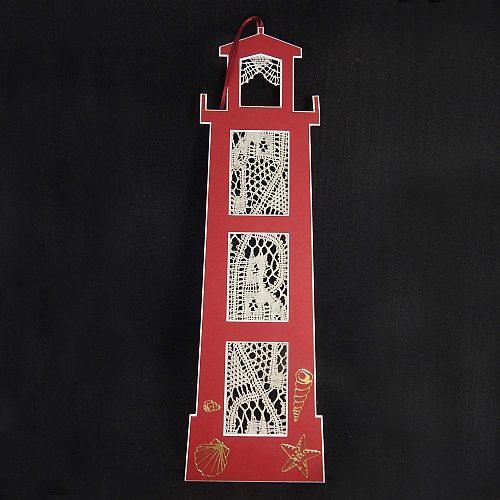 Deko-Passepartout Leuchtturm mit Spitze