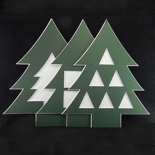Deko-Passepartout Weihnachtsbaum
