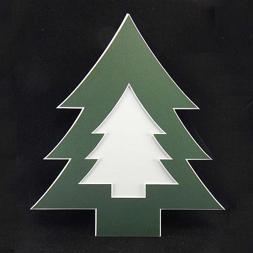 Deko-Passepartout Weihnachtsbaum Ausschnitt Tanne