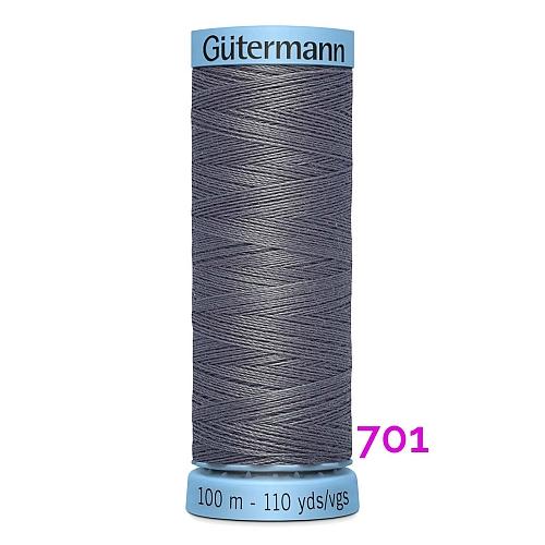 Gütermann Seide S303, Seidengarn auf der 100m Spule Farbe 701, in der Klöppelwerkstatt erhältlich und sehr gut zum klöppeln, häkeln, quilten, nähen, für Patchwork und Kumihimo geeignet.