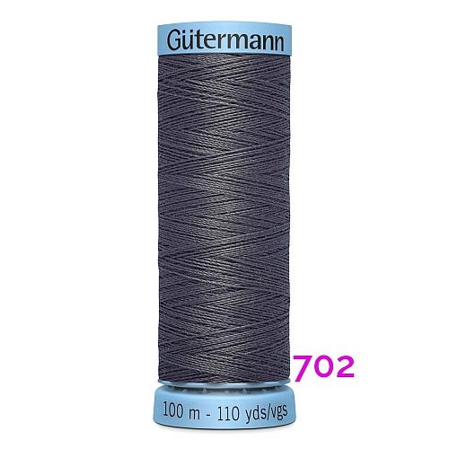 Gütermann Seide S303, Seidengarn auf der 100m Spule Farbe 702, in der Klöppelwerkstatt erhältlich und sehr gut zum klöppeln, häkeln, quilten, nähen, für Patchwork und Kumihimo geeignet.