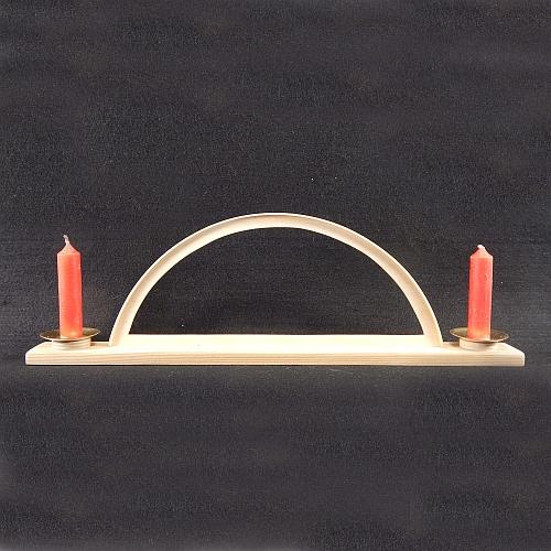 Set Leuchter mit 2 Kerzen und Klöppelbrief
