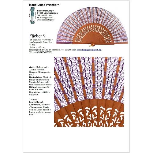 Fächer Modell Santander und Brief Torchonspitze 9 - Klöppelbrief