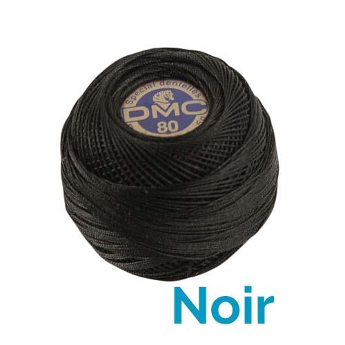 DMC Spitzengarn-Spezial Dentelles Farbe schwarz