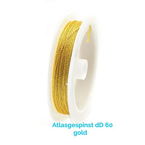 Atlasgespinst dD 60 in Gold 10 m Spule