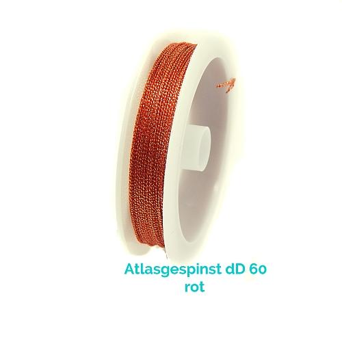 Atlasgespinst dD 60 in rot