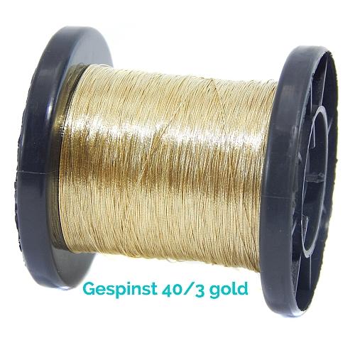 Gold und Silber Gespinst hier 40/3 in gold
