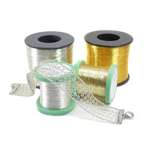 Gold und Silber Gespinst in verschiedenen Lauflängen