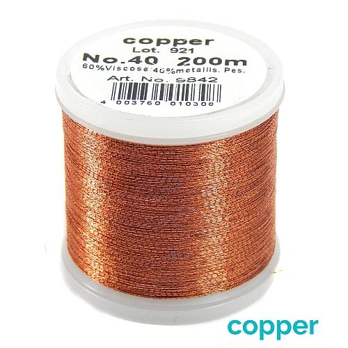 Madeira Metallic No 40 copper