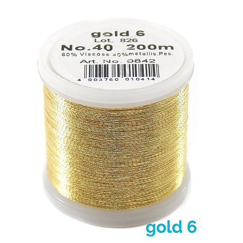 Madeira Metallic No 40 gold 6
