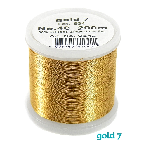 Madeira Metallic No 40 gold 7
