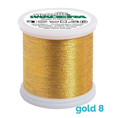 Madeira Metallic No 40 gold 8