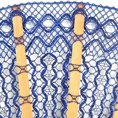 Fächer Modell Toledo geklöppelte Spitze Detailbild Holzart Peral