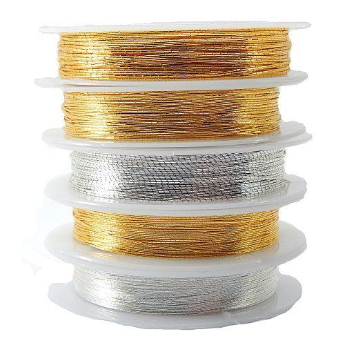 Japan Thread-Lumi 5 und 7 in gold- und silberfarben und 12 in goldfarben