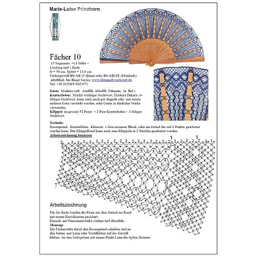 Fächer Modell Toledo, Klöppelbrief