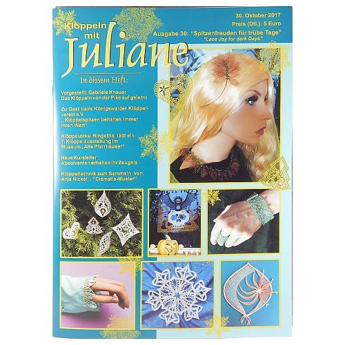 Klöppeln mit Juliane Heft Nr. 30 in der Klöppelwerkstatt, Klöppeln, Erzgebirgische Zeitschrift